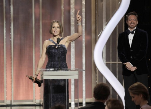 Jodie Foster receiving the Cecil B. DeMille Award